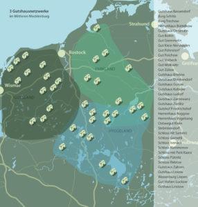 Karte Netzwerk der Gutshäuser Stadt-Land-Gut